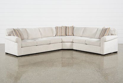 Elm II Foam 3 Piece Sectional With Left Arm Facing Sofa | Living .