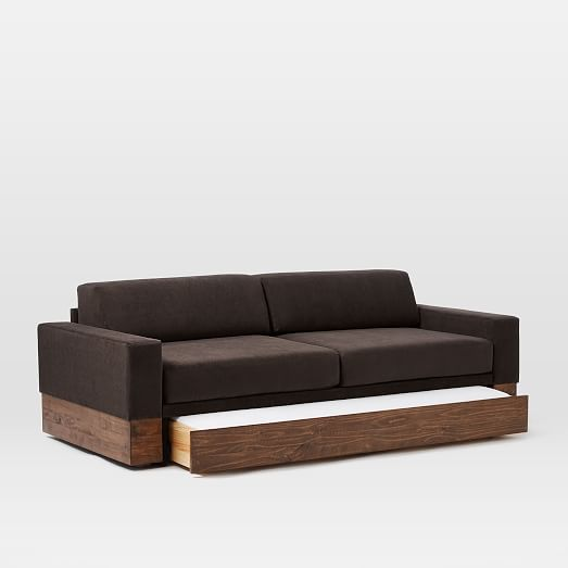 Emery Sofa + Daybed + Trundle | west elm | Daybed sofa, Daybed .