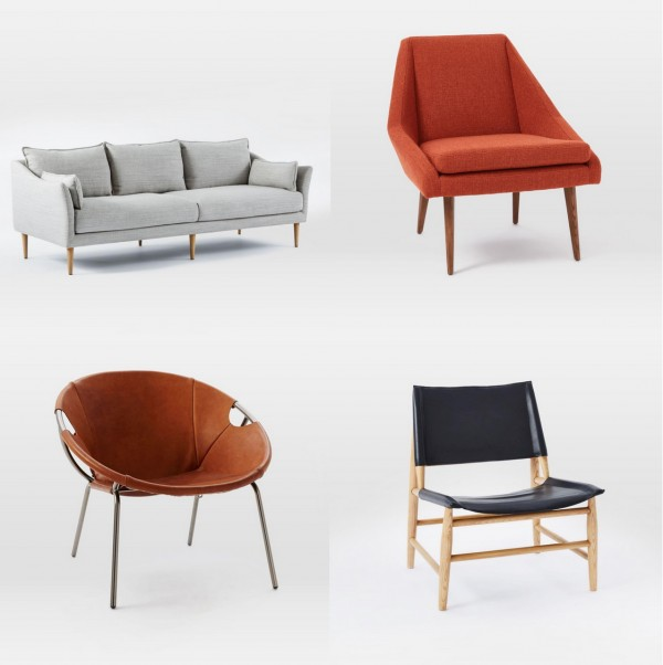 West Elm Spring 2016 sofa and chairs - We Are Sco