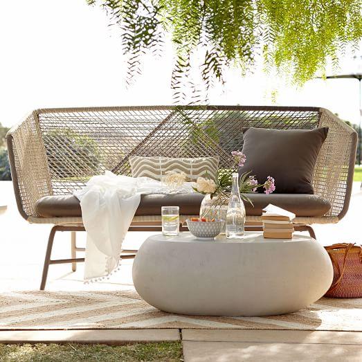 Huron Outdoor Sofa – Gray/Se