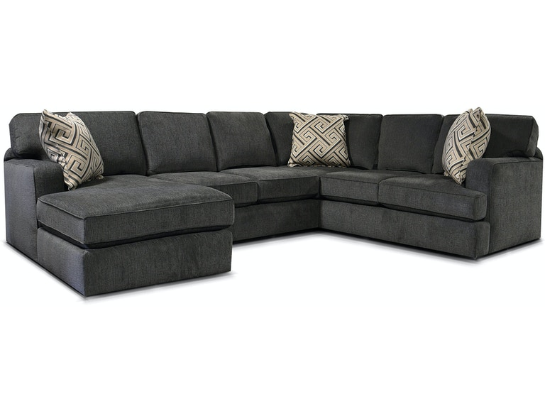 England Living Room Rouse Sectional 4R00-SECT - England Furniture .