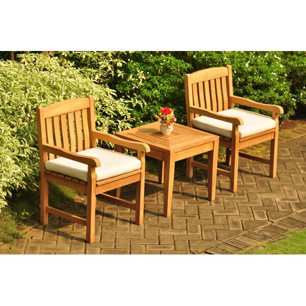Rosecliff Heights Escondido 3 Piece Teak Seating Group | Wayfa