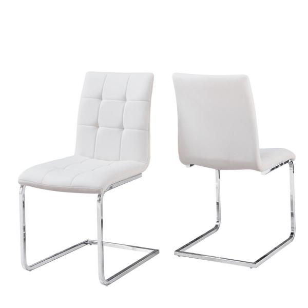 Steve Silver Escondido White Side Chair - (set of 2) ED480SW - The .