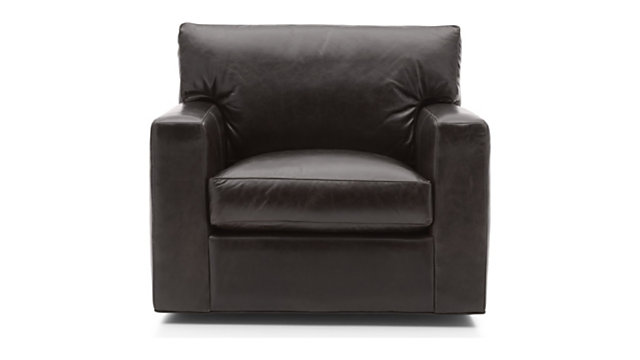 Axis II Leather Swivel Chair | Crate and Barr