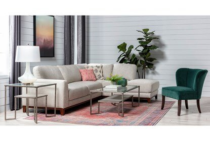 Amherst Cobblestone 2 Piece Sectional With Right Arm Facing Chaise .