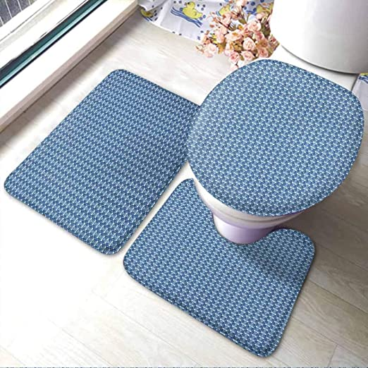 Amazon.com: FYLART Toilet Lid Cover U Shaped Nonslip Abstract .