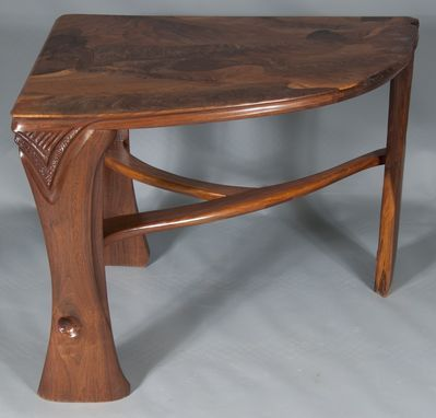 Custom Made Abstract Organic Expressionism In Furniture™ Walnut .