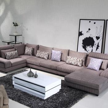 Extra large big U shape fabric corner sofa, corner tan sofas for .