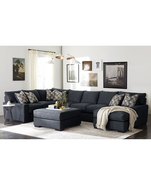 Furniture Tuni Fabric Sectional Sofa Collection, Created for .