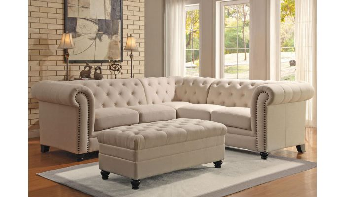 Classic Linen Fabric Sectional So