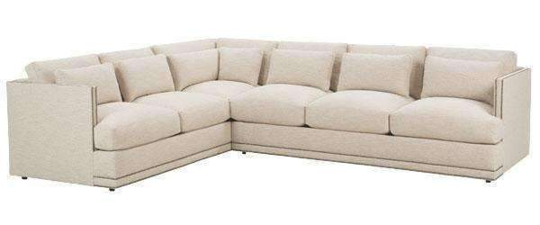 Gretchen Contemporary Fabric Upholstered Sectional Sofa With Nails .