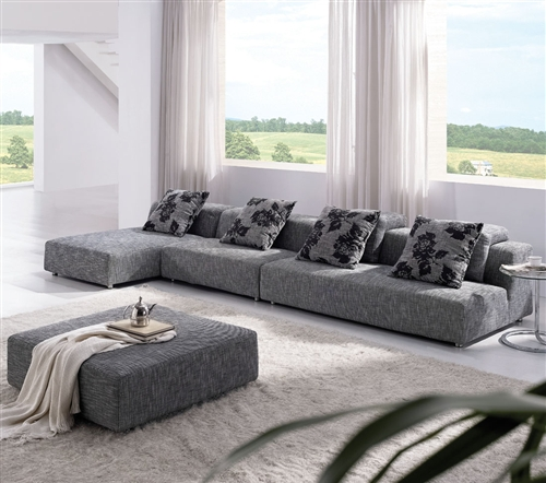 Modern Zebrano Fabric Sectional Sofa TOS-ANM308-