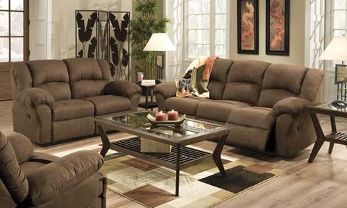 Aruba - Farmers' Home Furniture. Sofa with 2 recliners .