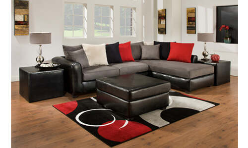Young style sectional with great colo