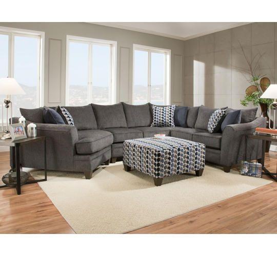 Albany Slate 3PC Sectional - Art Van Furniture   Living room sets .