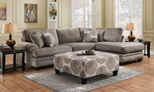 Stylish Sectional sofa loveseat gray col