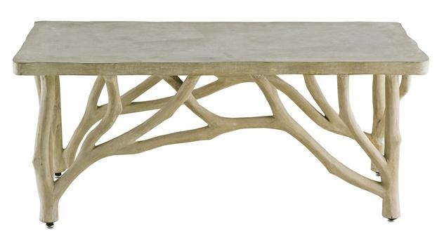 Bayou Faux Bois Concrete Branch Coffee Table - Mecox Garde