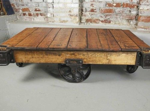 Lineberry Foundry Coffee Table. I love building these Factory Cart .