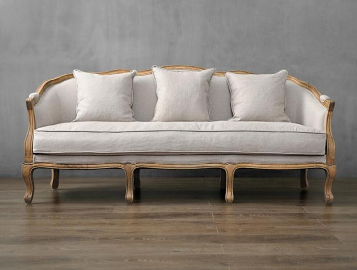 Soft French style living room sofa, vintage luxury furniture sofa .