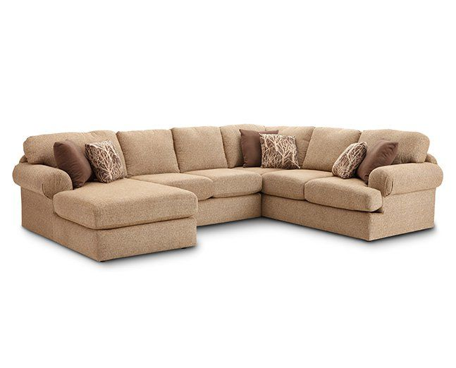 Southport 3 Pc. Sectional - Furniture Row | Elegant living room .