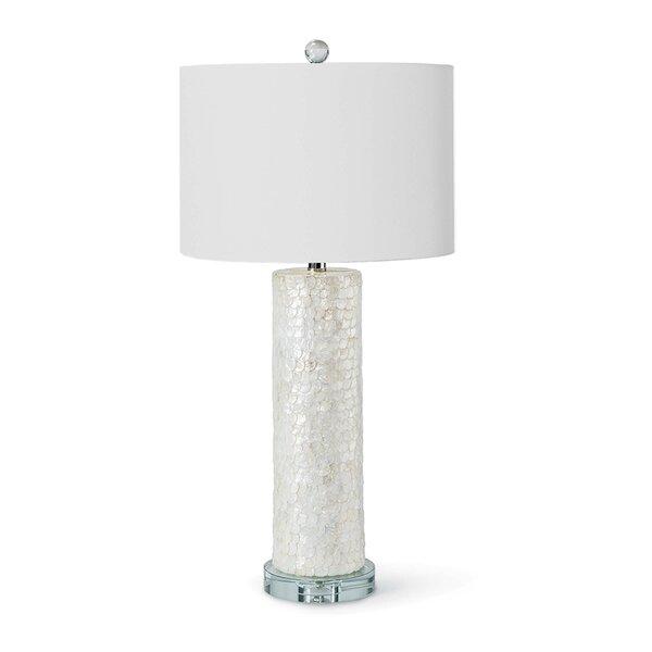 "ReginaAndrew Scalloped Capiz Column 29"" Table Lamp | Perigo"