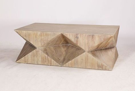 $495 Living Space OTB GEO FACETED COFFEE TABLE (With images .