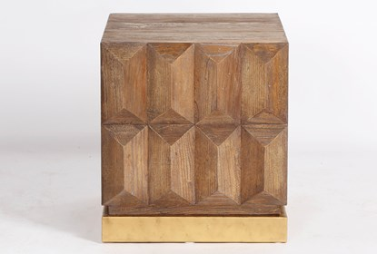 Geo Faceted End Table | Living Spac