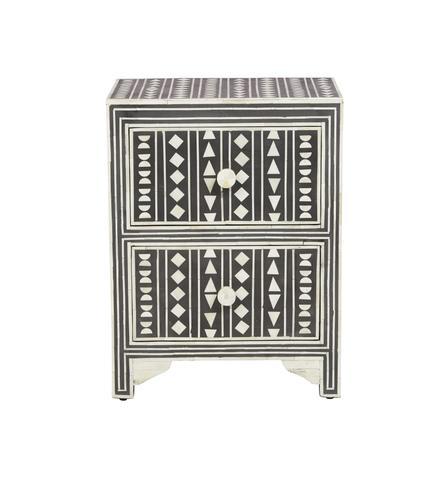 Fenton & Fenton – Bone Inlay Furniture | Bone Inlay Side Table .