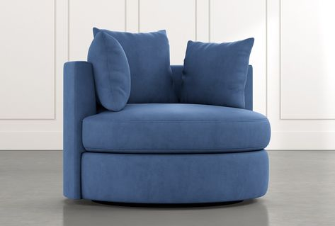 Gibson II Blue Swivel Cuddler - $750 | Accent chairs for living .
