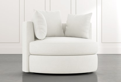 Gibson II White Swivel Cuddler | Living Spac