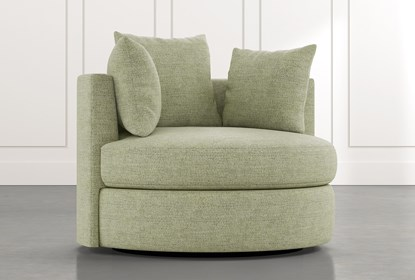 Gibson II Green Swivel Cuddler | Living Spac