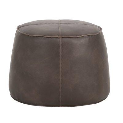 Foundry Select Girard Ottoman | Round ottoman, Ottoman, Leather po