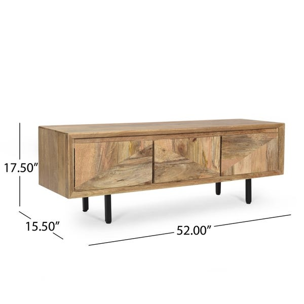Shop Girard Boho Handcrafted Mango Wood TV Stand by Christopher .