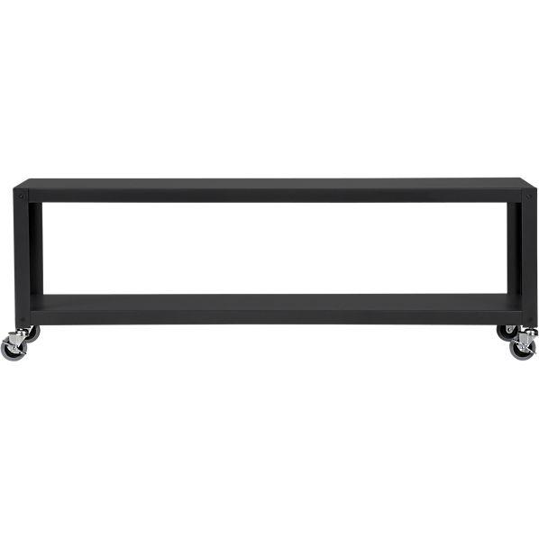 Go-Cart Carbon Grey Rolling TV Stand Coffee Tab