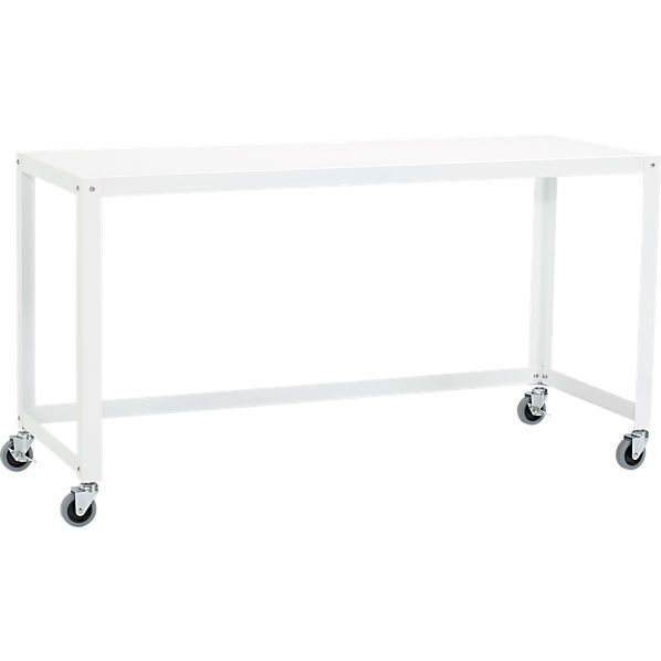 Go-cart white console table on wheels | White console table, Hall .