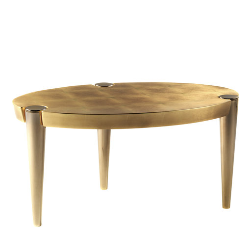Ottaviano Gold Leaf Coffee Table Elledue - Arteme