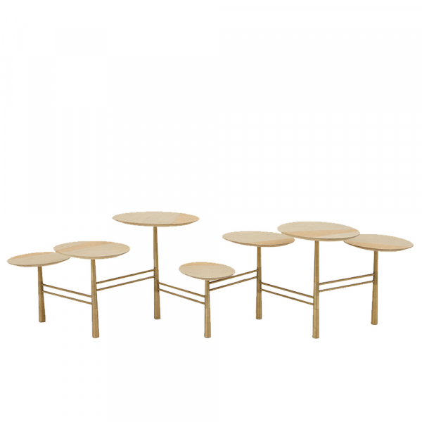 Pebble Coffee Table Gold Leaf - The Invisible Collecti