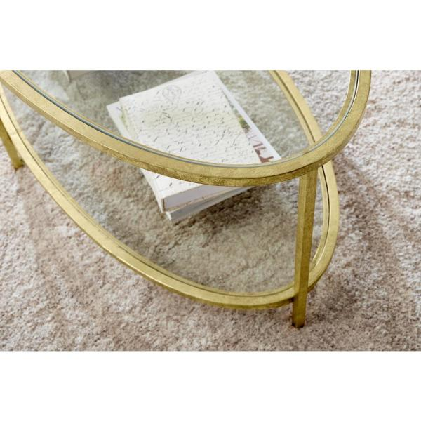 Home Decorators Collection Bella Oval Gold Leaf Metal and Glass .