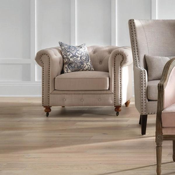 Home Decorators Collection Gordon Natural Linen Arm Chair .