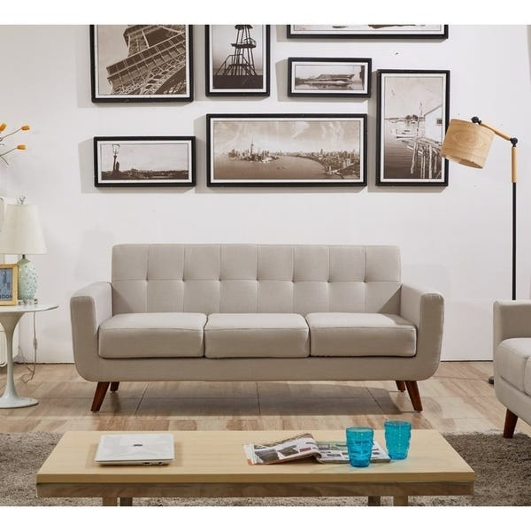 Shop Grace Mid-Century Tufted Upholstered Rainbeau Living Room .