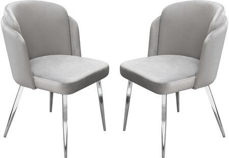 Diamond Sofa Grace Dining Chair GRACEDCGR2PK Grey | Appliances .