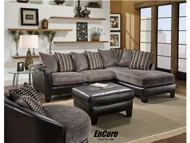 Shop for 1009 Sofa/Chaise, Ebony Two Piece Sectional, and other .