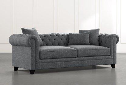 Patterson III Dark Grey Sofa | Living Spac