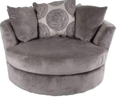 Groovy Smoke Swivel Chair 8642 by Albany   Savvy Discount Furnitu
