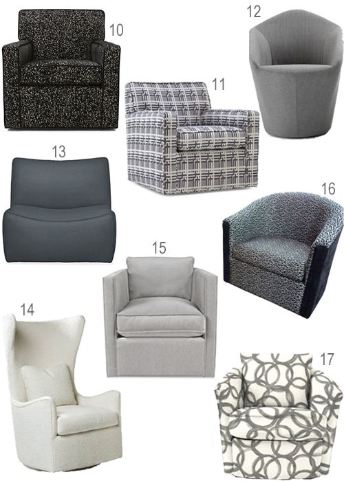 Get the Look: Upholstered Swivel Chairs In Every Color   Modern .