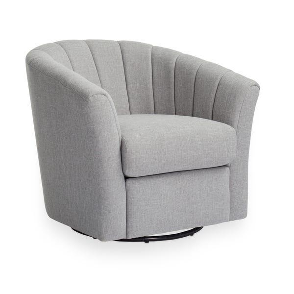 Shop Strick & Bolton Chloe Grey Swivel Chair - Overstock - 212067