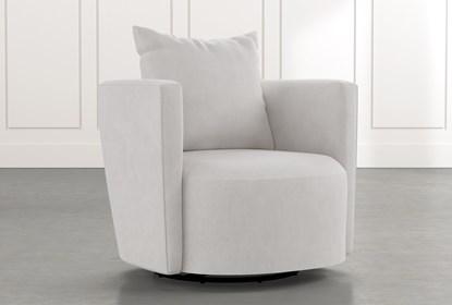 Twirl Light Grey Swivel Accent Chair   Living Spac