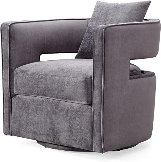 Amazon.com: TOV Furniture Kennedy Modern Handmade Velvet Swivel .