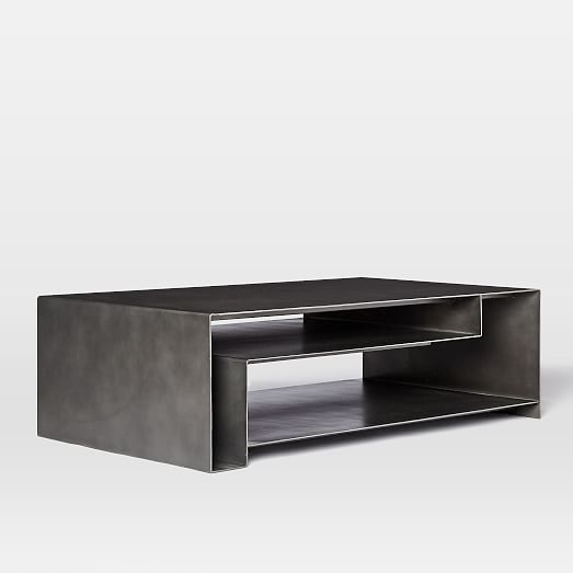 Hayes Coffee Table by West Elm. Hot rolled iron frame in Gunmetal .