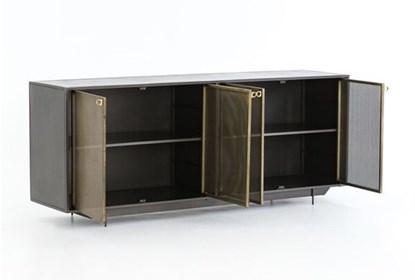 Gunmetal Perforated Brass Sideboard | Living Spac